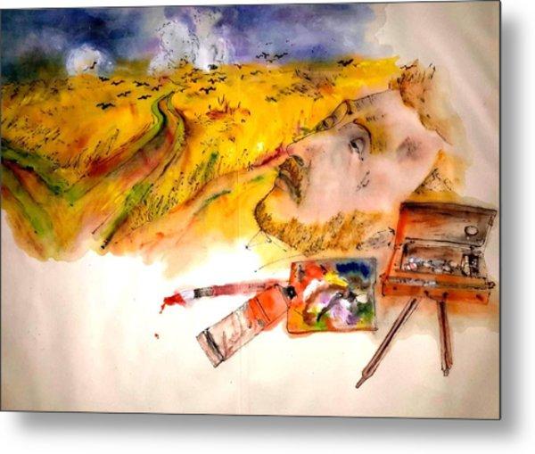Looking At Van Gogh My Way Album Metal Print