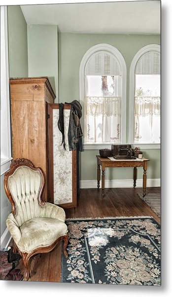 1800 Closet And Chair Metal Print