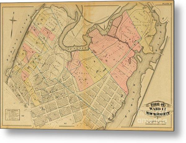 1879 Inwood Map  Metal Print