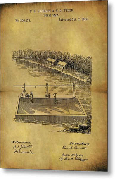 1884 Ferry Boat Patent Metal Print