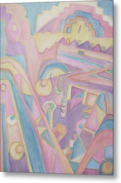 18th Century Greek Church Abstract Metal Print by Suzanne  Marie Leclair
