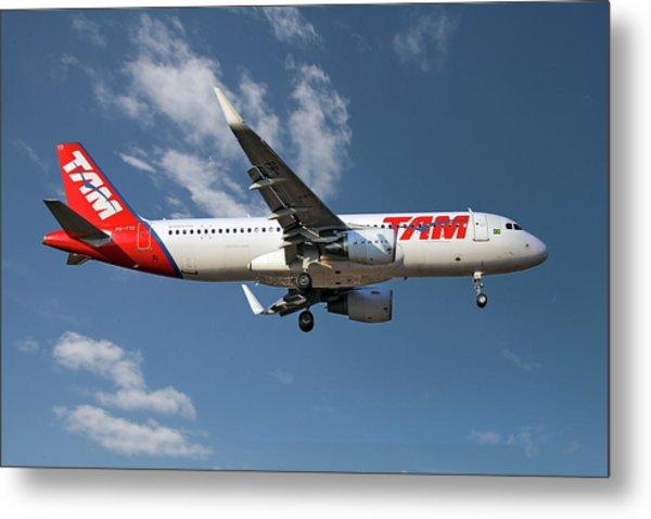 Latam Brasil Airbus A320-214 Metal Print