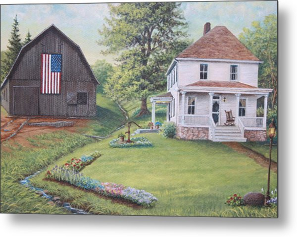 1900 4th Of July Metal Print by Diana Miller