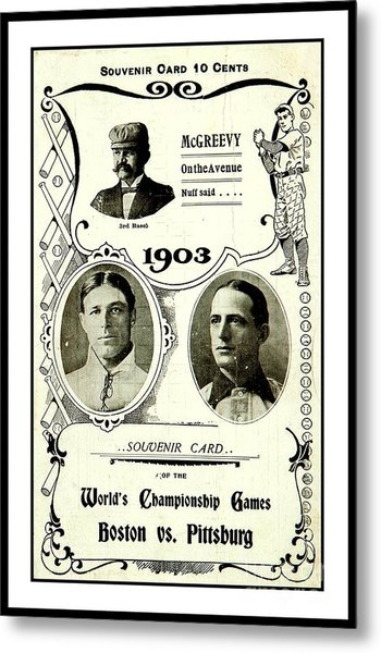 1903 World Series Poster Metal Print