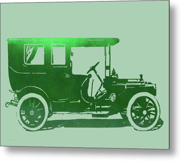 1909 Packard Limousine Green Pop Metal Print by David King