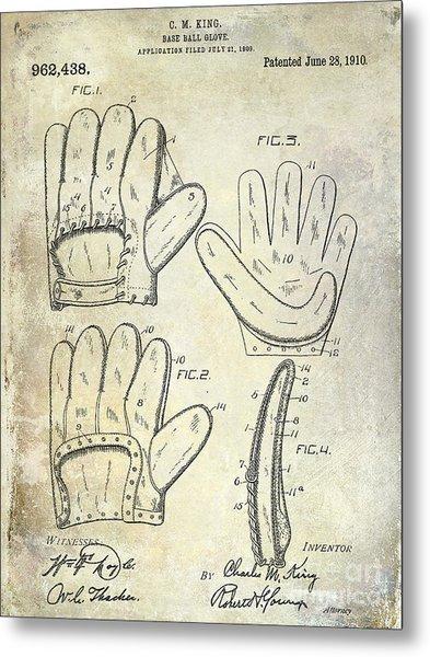 1910 Baseball Glove Patent  Metal Print