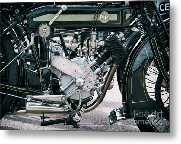 1921 P And M Motorcycle Metal Print by Tim Gainey