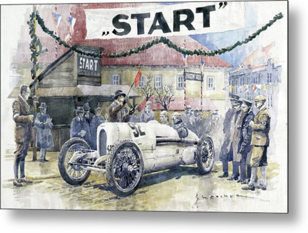 1924 Zbraslav-jiloviste Regularity Ride To The Top Start Walter W-0 Metal Print
