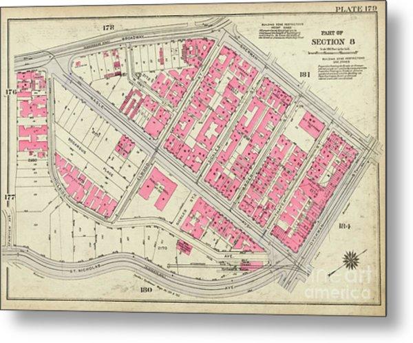 1930 Inwood Map  Metal Print