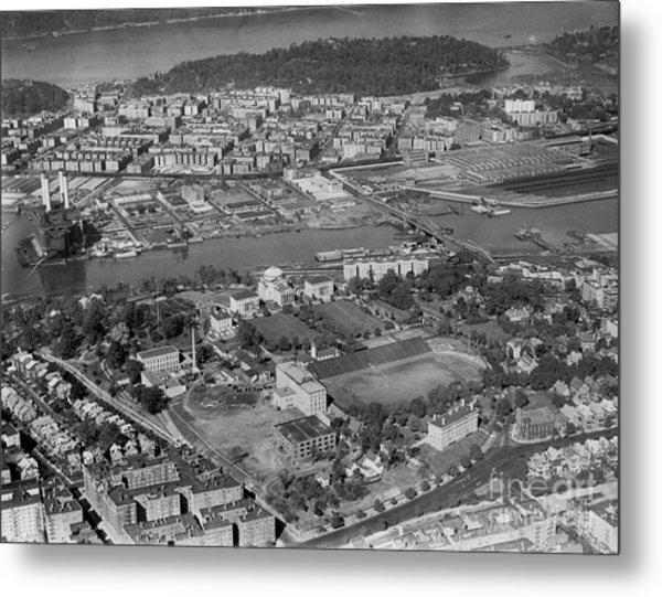 1930's Northern Manhattan Aerial  Metal Print
