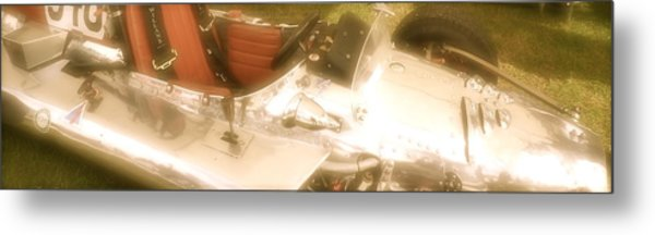 1930s Single Seater Racing Car Detail Metal Print