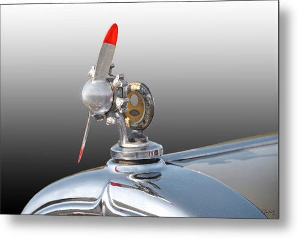 1932 Buick 96 S Coupe 'hood Ornament' Metal Print