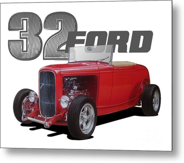 1932 Red Ford Metal Print