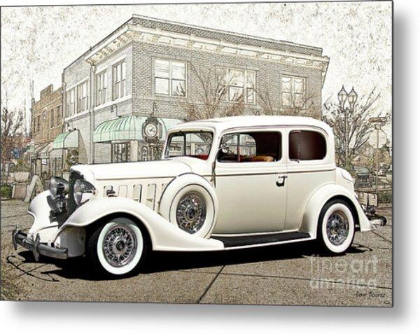 1933 Buick Series 86 Victoria 'cornerstone' Metal Print
