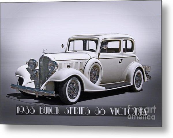 1933 Buick Series 86 Victoria 'studio' II Metal Print