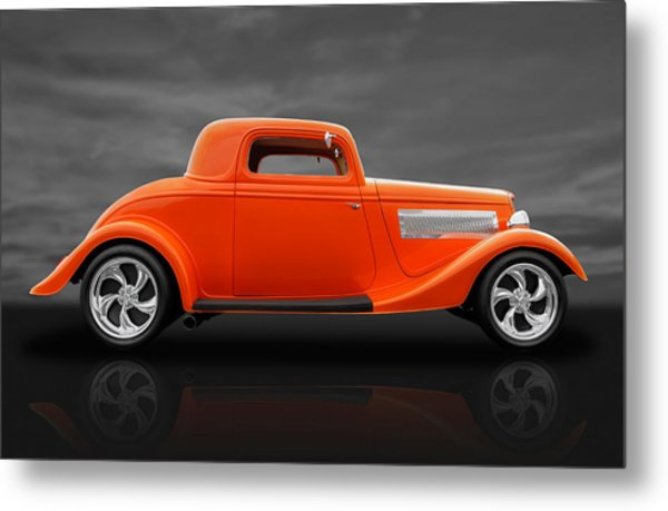 1933 Ford Three Window Coupe Metal Print