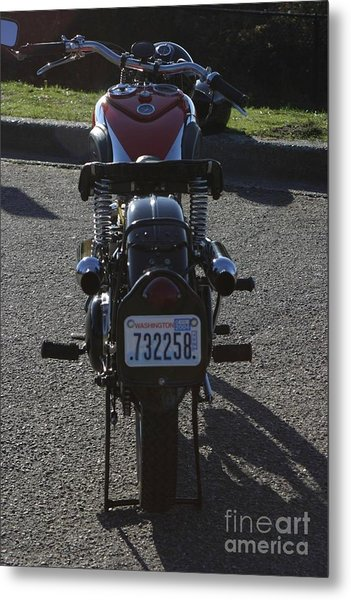 1934 Ariel Motorcycle Rear View Metal Print by Robert Torkomian