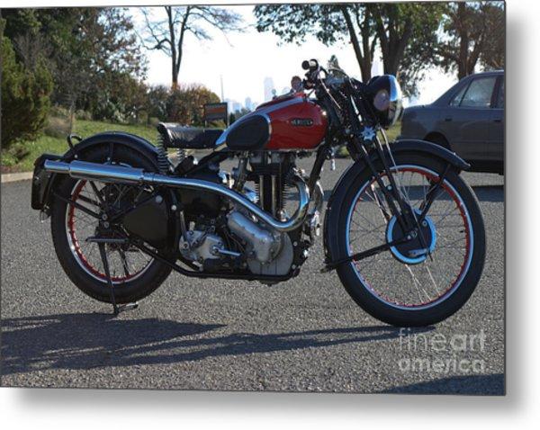 1934 Ariel Motorcycle Side View Metal Print by Robert Torkomian