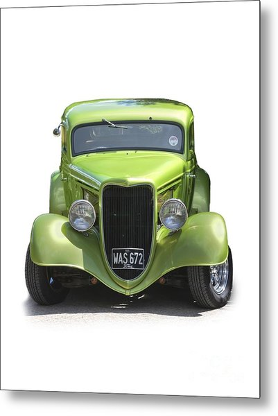 1934 Ford Street Hot Rod On A Transparent Background Metal Print