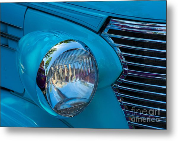 1936 Chevy Coupe Headlight And Grill Metal Print