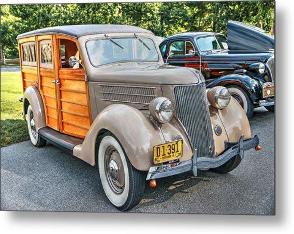 1936 Ford V8 Woody Station Wagon Metal Print
