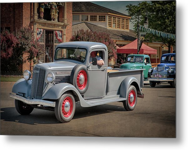 Metal Print featuring the photograph 1936 Gmc T-14 Pickup  by Susan Rissi Tregoning