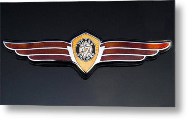 1937 Dodge Brothers Emblem Metal Print