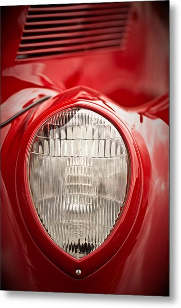1937 Ford Headlight Detail Metal Print
