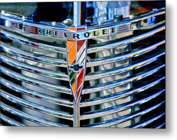 1939 Chevrolet Coupe Grille Emblem Metal Print