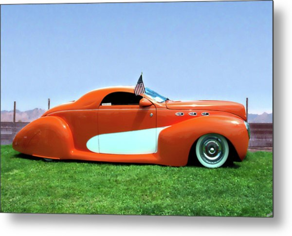 1939 Lincoln Zephyr Coupe Metal Print