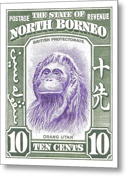 1939 North Borneo Orangutan Stamp Metal Print