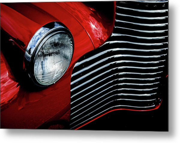 Metal Print featuring the photograph 1940 Chevy 2-door by Eric Christopher Jackson