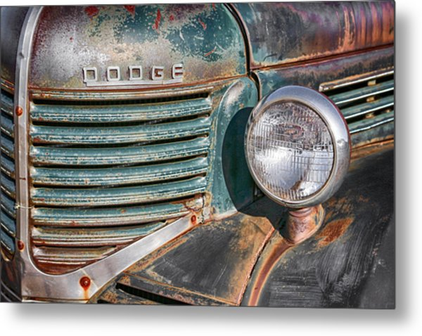 1940s Dodge Truck Front Grill And Headlight Metal Print