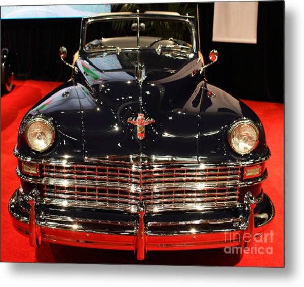 1941 Cadillac Series 62 Convertible Coupe . Front View Metal Print by Wingsdomain Art and Photography