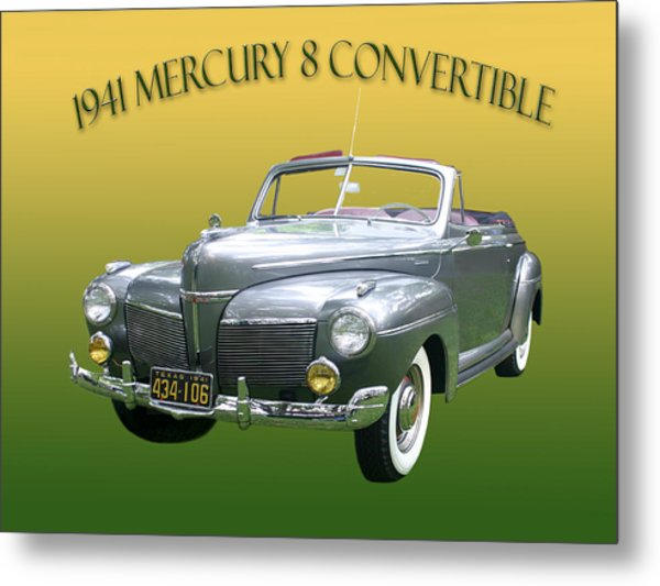 1941 Mercury Eight Convertible Metal Print
