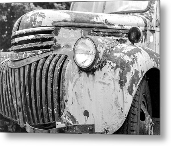 1946 Chevy Work Truck Fender And Grill Metal Print