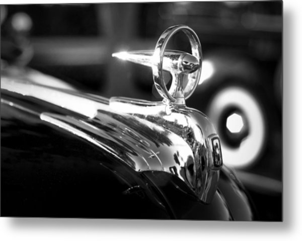 1946 Ford V8 Hood Ornament Metal Print
