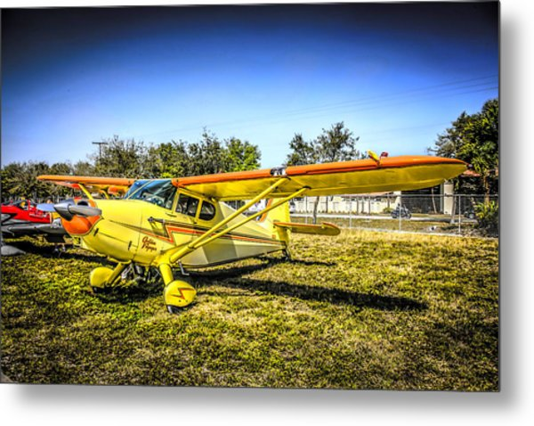 1947 Yellow Stinson Metal Print