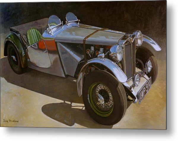 1948 M G  Racer Metal Print by Doug Strickland