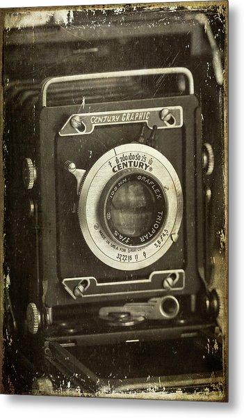 1949 Century Graphic Vintage Camera Metal Print
