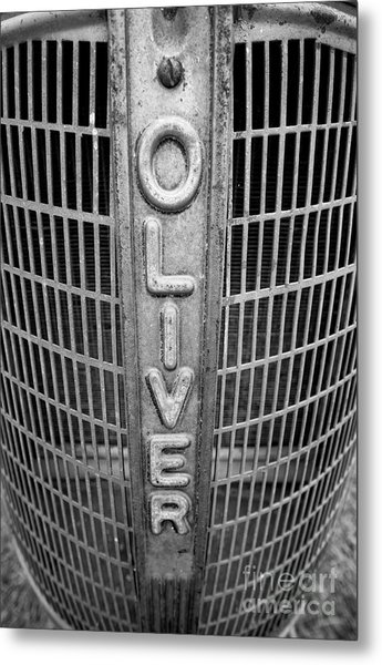1949 Oliver Tractor Grill Metal Print