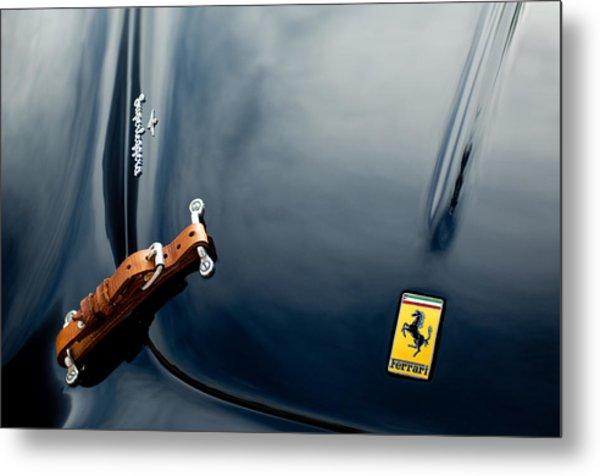 1950 Ferrari Hood Emblem Metal Print