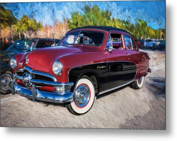 1950 Ford 2 Door Crestliner Painted    Metal Print