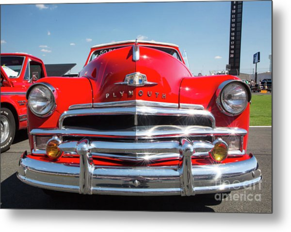 1950 Plymouth Automobile Metal Print