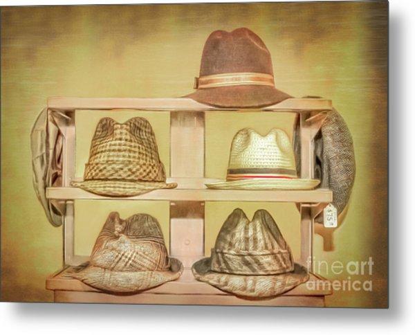 1950s Hats Metal Print