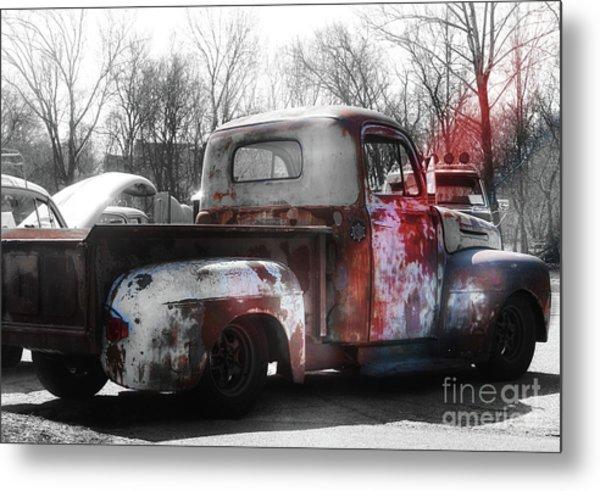 1950s Truck  Patina  Metal Print by Steven Digman