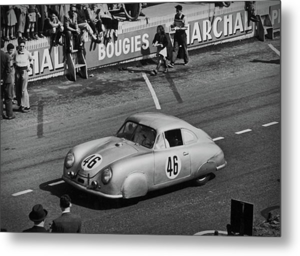 1951 Porsche At Le Mans - Doc Braham - All Rights Reserved Metal Print