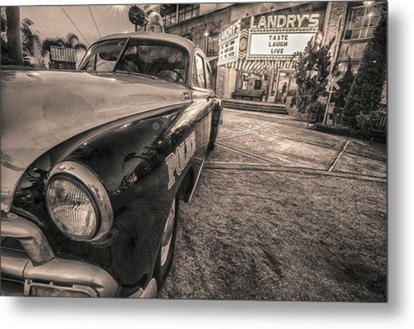 1952 Chevy Black And White Metal Print