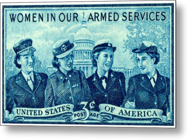 1952 Women In Military Service Stamp Metal Print