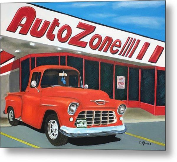 1955 Chevy - Autozone Metal Print
